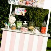 bar à bonbons rose - location de décoration