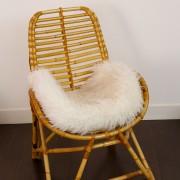fauteuil osier avec coussin