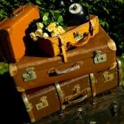 lot de valises vintage