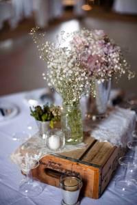 centre de table vintage  et rustique chic - mariage vintage