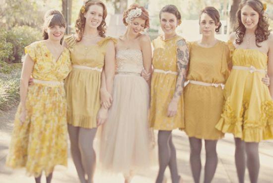 dress code pour un mariage vintage moutarde. Black Bedroom Furniture Sets. Home Design Ideas