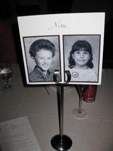 mariage vintage - numéro de table vintage
