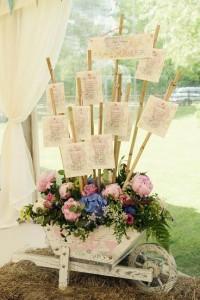 mariage vintage-plan de table _brouette