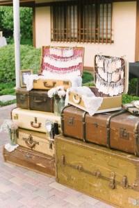 mariage vintage - valises vintages
