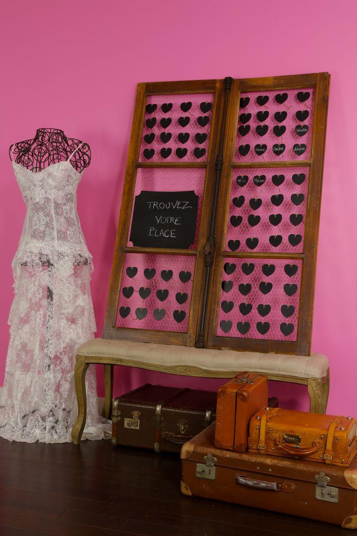 plan de table fenetre mariage vintage. Black Bedroom Furniture Sets. Home Design Ideas