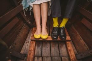 chaussure jaune-mariage vintage