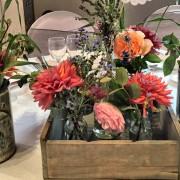 centre de table champêtre et vintage
