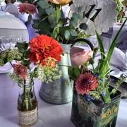 centre de table vintage