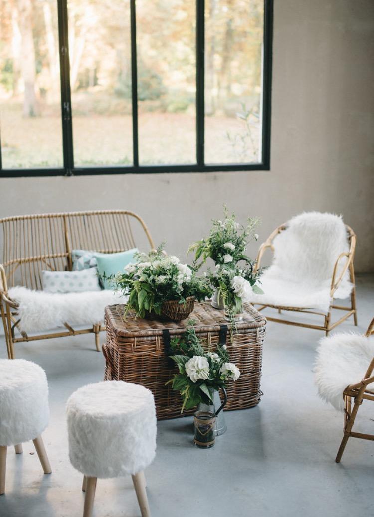 salon osier scandinave mariage vintage. Black Bedroom Furniture Sets. Home Design Ideas