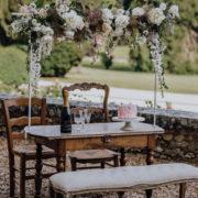 decoration-cocktail mariage-champetre-petit-salon-bois